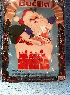 "Cooperative Nos 1991 Bucilla ""kris Kringle 15"" X 19"" Felt Card Holder"" Kit #82957 Pure And Mild Flavor Other Home Arts & Crafts Crafts"