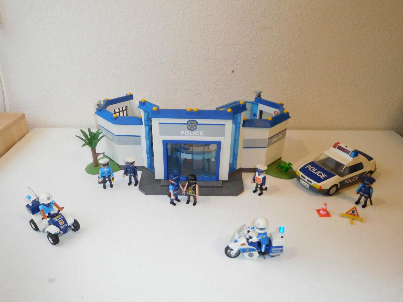 Playmobil police station policecar motor etc