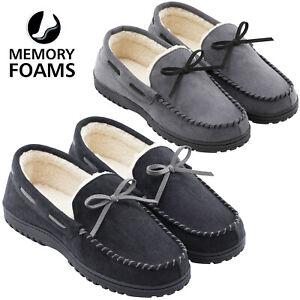 Men's Memory Foam Warm Faux Wool Lined