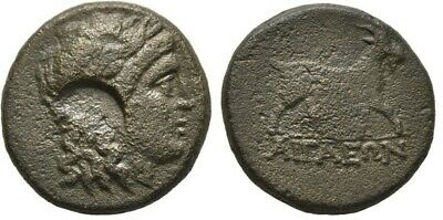 Gentle Ancient Greece 2 Cent Bc Aeolis Aigai Apollo/cmk Goat Luxuriant In Design Coins & Paper Money Greek (450 Bc-100 Ad)