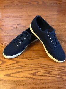 CVO Wool Boat Shoe Navy Blue