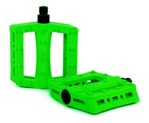 RANT SHRED PEDALS BMX BIKE BICYCLE FIT SE SUBROSA CULT HARO SHADOW NEON GREEN