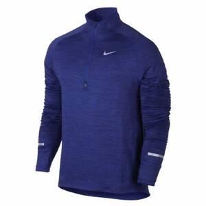 9947c868 Nike Element Sphere Half-Zip Running Top-Deep Royal Blue/Heather ...