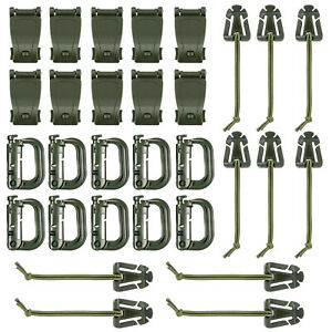 30-Pcs-Army-Green-Strap-Management-Tool-Buckle-Set-for-Molle-Backpack-D-Ring