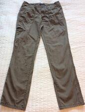 "Gap Khaki Pants Size 0 Cargo Green Brown 100% Cotton 30"" Inseam Fall Tan Womens"