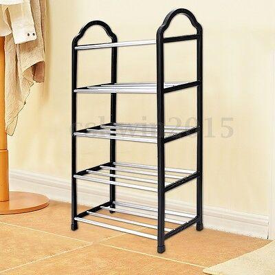 Shoes Rack Durable 5 Tier Stand Storage Holder Closet Organizer Tower Shelves