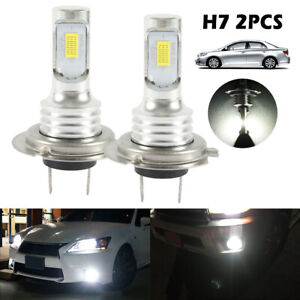 2X-H7-LED-Bulbs-Super-White-Xenon-Headlight-Set-High-Low-Beam-Car-Headlamp-UK