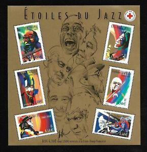 Bloc-Feuillet-2002-N-50-Timbres-France-Neufs-Etoiles-du-Jazz