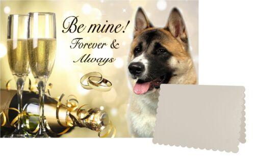 Akita Dog C5 Valentines Day Card Design VAKITA-1 by paws2print