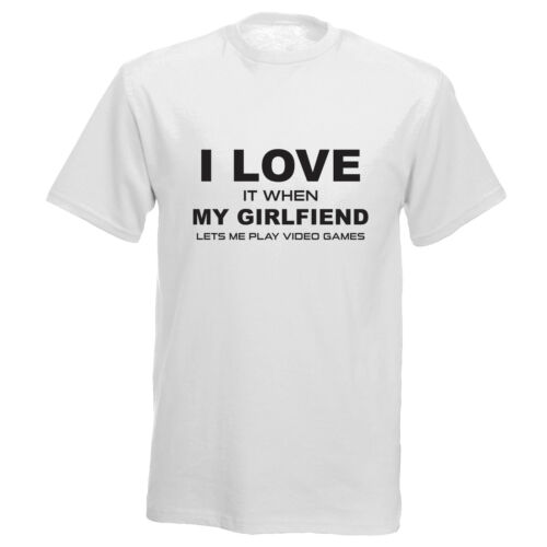 I Love It When Girlfriend  Lets Me Play Video Games  Mens Kids T Shirt gamer