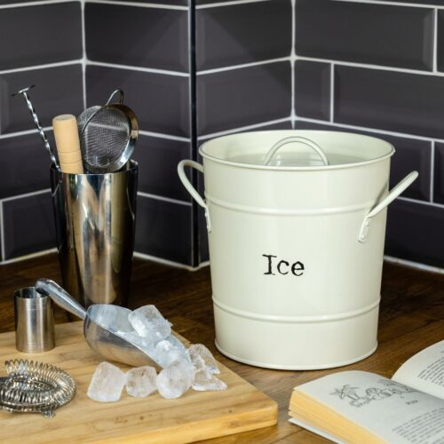 Ice Bucket Wine Champagne Beer Party Cooler with Lid Stainless Steel Scoop Cream