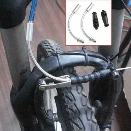 2x 90° Front Rear V-Brake Cable Guide Noodle with Rubber Boot Bicycle MTB Bike