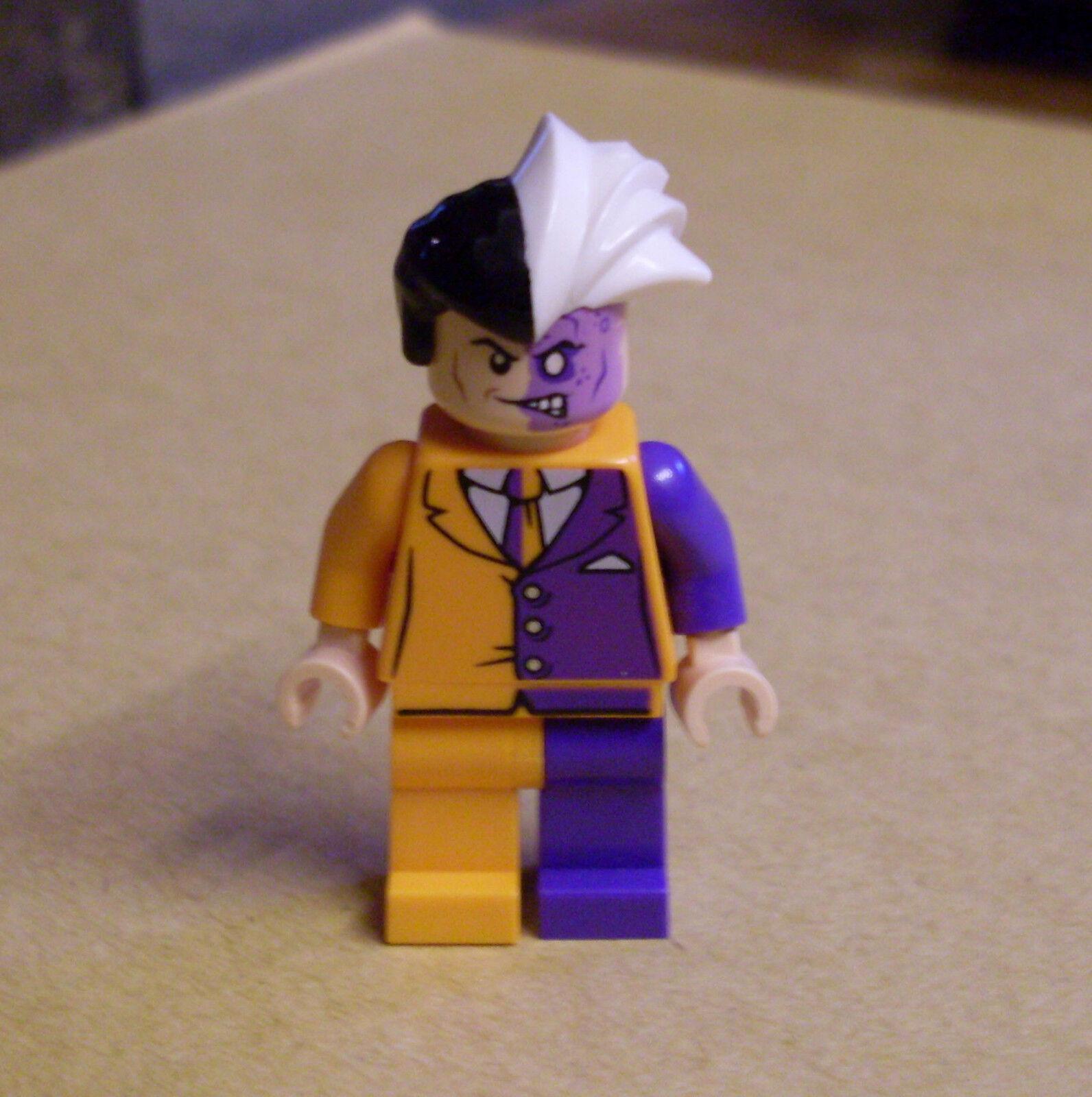 Lego Superhelden - Batman Figur - Two-Face 2 Two Face Orange Suit lila Weste Neu