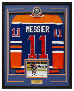Mark Messier Edmonton Oilers Signed CCM® Mass 35x43 Framed Hockey Jersey