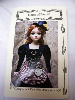 "2 Outfits, 16/"" Tonner Ellowyne Victorian /""Steampunk/"" PATTERN  Bustier"