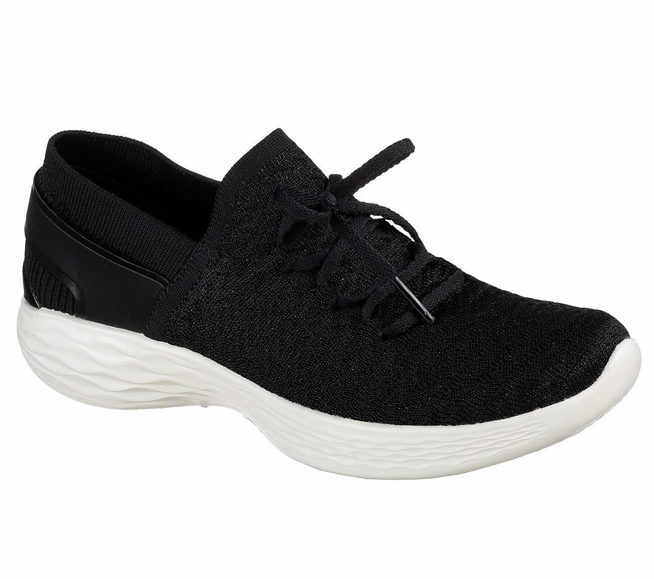 Zapatos promocionales para hombres y mujeres NEU SKECHERS Damen Sneakers Turnschuhe Walking YOU - BEGINNING Schwarz