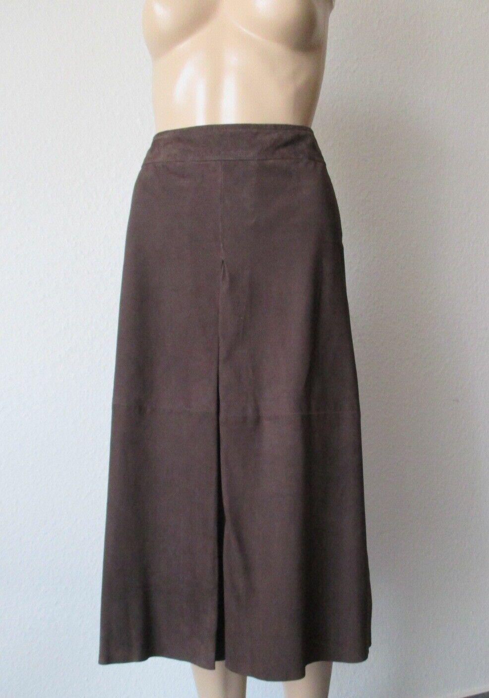 Riani Lederrock, knielang, in der Farbe  mGold  (braun) , Größe 40