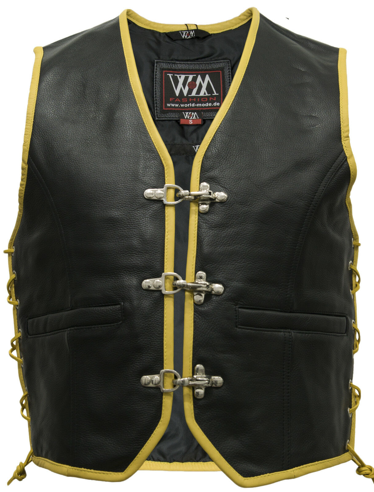 Lederweste Lederkutte Motorrad Clubweste Chopperweste Bikerweste Leather Vest