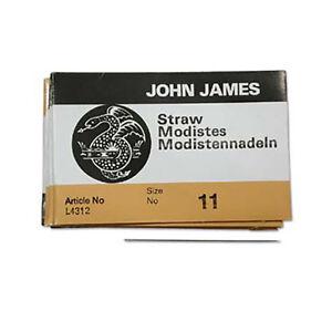 Discret John James Paille Aiguilles Modiste Aiguilles Taille 11 43373 (25) L4312-afficher Le Titre D'origine