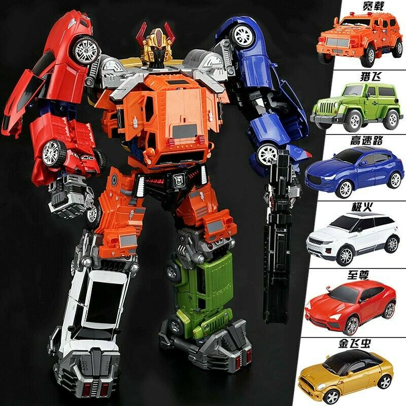 NEW Wei Jiang 6 in 1 Adjustment Car Team, Transformers Masterpiece Throttlebots