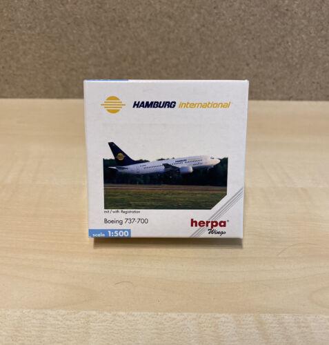 Herpa 511698 Hamburg International Boeing 737-700 Neu mit OVP 1:500
