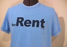 "Designer DSQUARED 2 Men's Blue T-Shirt ""for Rent"" Size: X Large Fitted"