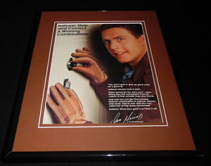 Dan Marino 11x14 Facsimile Signed Framed 1989 Isotoner Advertising Display B