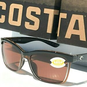 NEW-COSTA-Del-Mar-ANAA-Black-POLARIZED-580P-Brown-lens-Womens-Sunglass-ANA-107