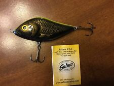 F14F-GT NORTHERN GIANT MUSKIE 3-5/' Green Tiger New SALMO FATSO 14 fishing lure