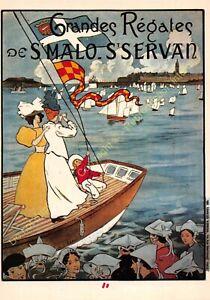 CP Poster Tourism Large Regatta Saint Malo Edit Nugeron R55