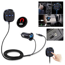 Auto Bluetooth Wireless Audio Receiver Empfänger Musik Stereo 3.5mm Adapter AUX