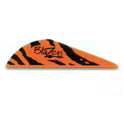 "Bohning 2/"" Blazer Tiger Vanes Orange 100 Pack"