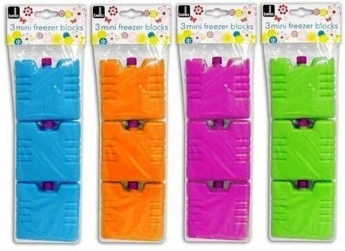 6x Mini Réutilisable Congélateur Blocs Ice Cool Pack Cooler Sac Picnic Travel Lunch BBQ