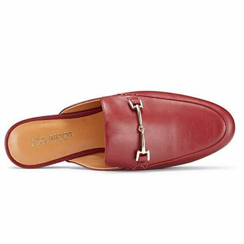 Women's RED Mule Flats Shoes Pointed Toe Backless Slipper Slip On Loafer Shoes