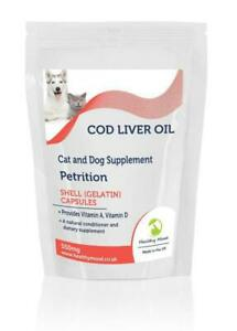 Cod-Liver-for-Pets-Oil-550mg-amp-Vitamin-A-amp-D3-x500-Capsules-Letter-Post-Box-Size