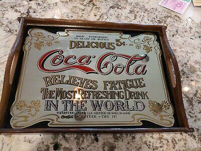 Vintage Delicious Coca Cola Relieves Fatigue Mirror Tray