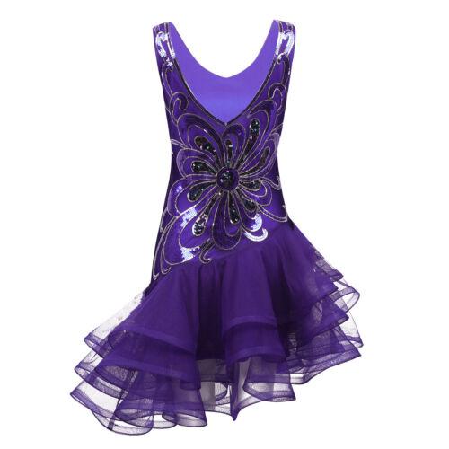 Womens Latin Jazz Dance Dress Stage Performance Salsa//Tango//rumba Ballroom Dance