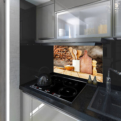 Splashback Toughened Glass  Modern Unique Kitchen Lions in the Black Any Sizes