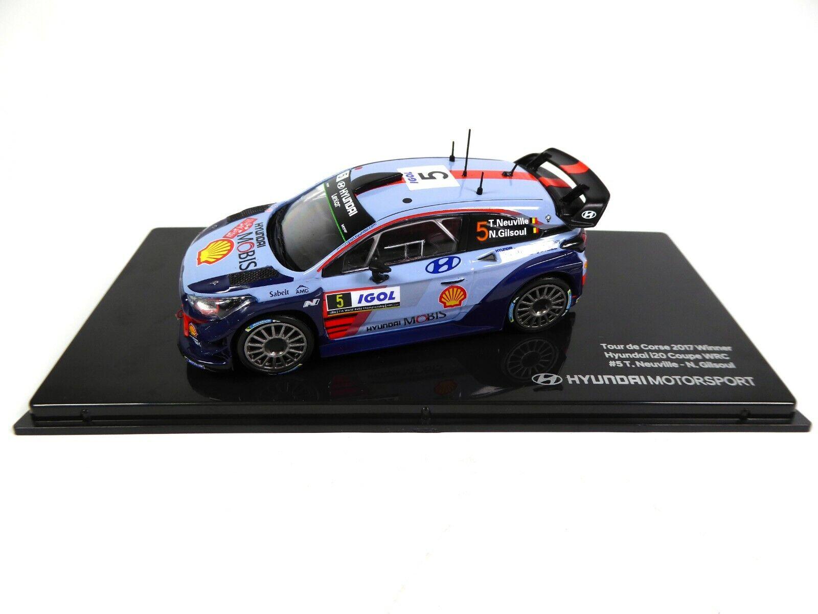 Hyundai i20 Coupé WRC #5 Ganador Rally Tour de Córcega 2017 Neuville,Gilsoul