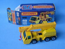 Lesney Matchbox Superfast 49 Crane Truck Dark Yellow Boxed Toy Model