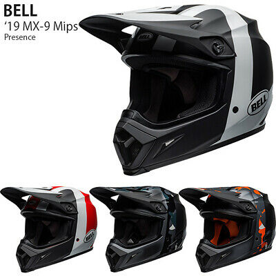Bell HELMET MX-9 MIPS PRESENCE BLACK FLO ORANGE CAMO M