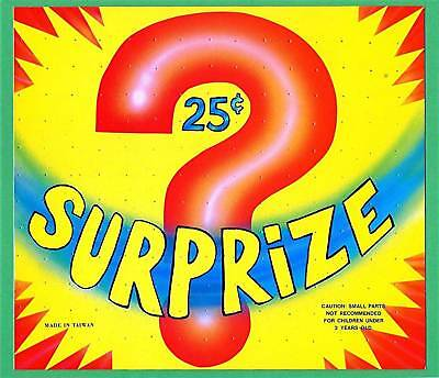 Old Surprize Toy Question Mark Vending Machine Sign | eBay