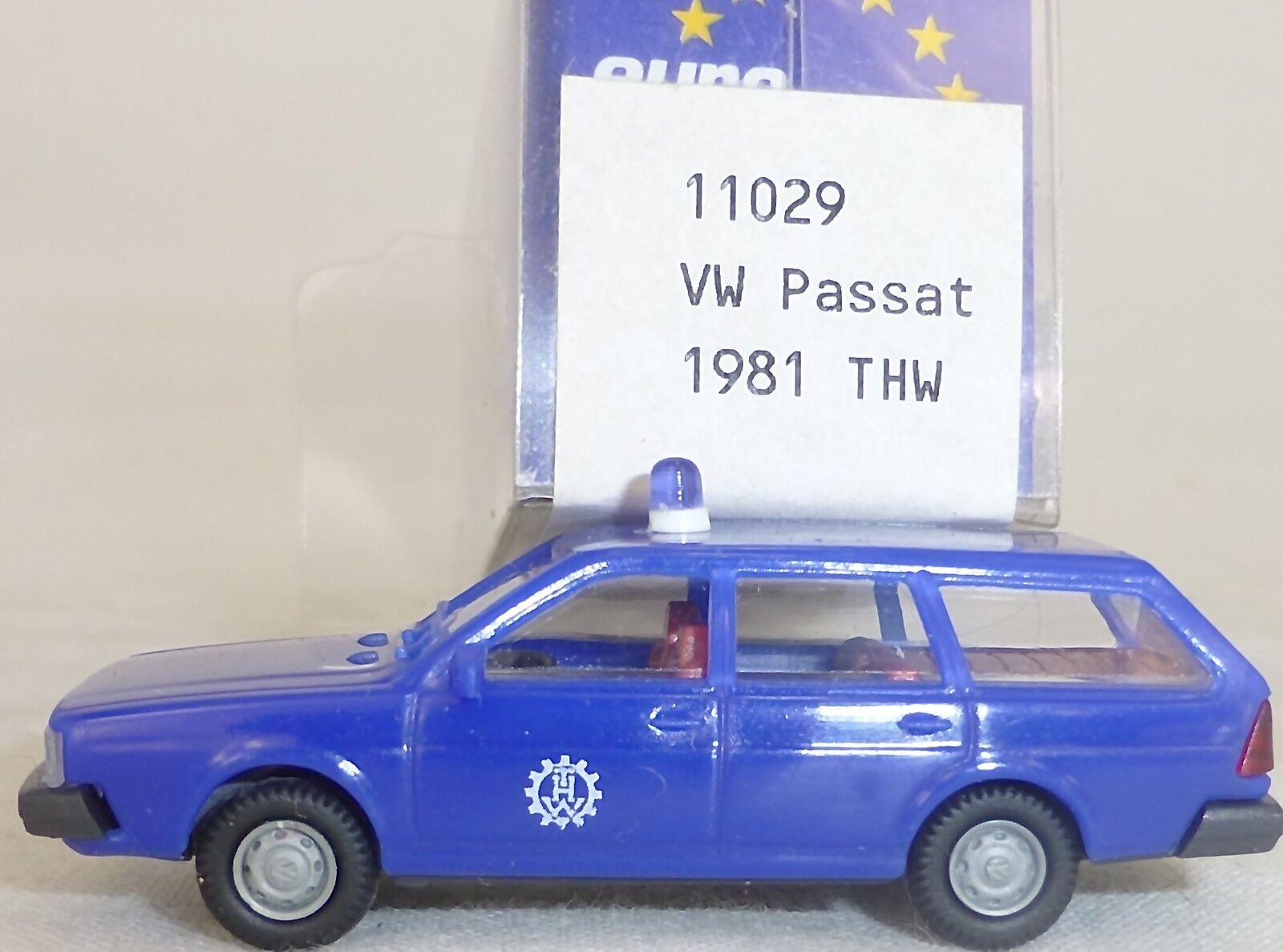 THW VW Passat Bj. 1981 blue IMU EUROMODELL 11029 H0 1 87 OVP HO 2  å