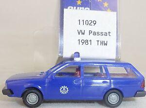 Thw-vw-passat-Annee-de-construction-1981-bleu-Mesureur-EUROMODELL-11029-h0-1-87-OVP-HO-2-a
