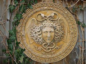 versace medusa wall relief plaque art stone sculpture home