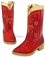 Disney Store Toy Story Cowgirl Jessie Sparkle Costume Red Boots Dress Up 2/3
