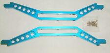 E-MAXX 3908 3905 GPM CHASSIE BRACES BLUE ALUMINUM  EMX2014