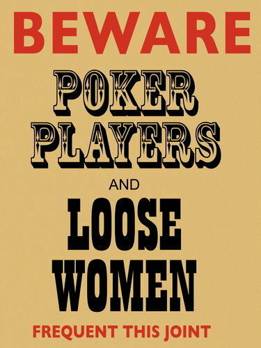 Beware Poker Players /& Loose Women Cards Pub Bar Club Funny Small Metal Tin Sign