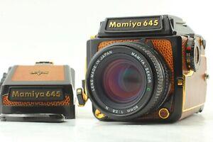 Nuovo-di-zecca-Mamiya-M645-1000s-Oro-Lizard-AE-Finder-WLF-80mm-f-2-8-N-da-JPN-967