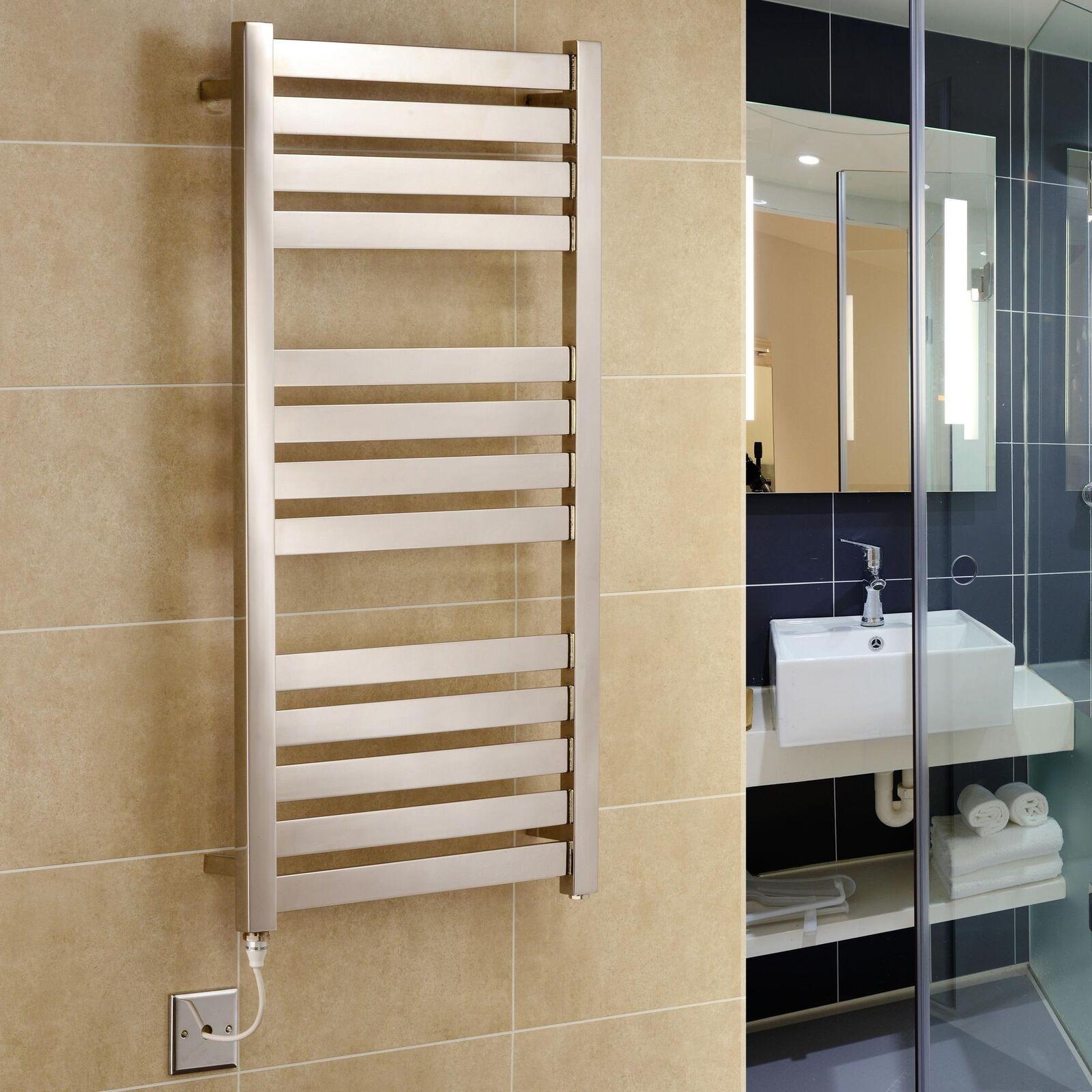 Algarve designer électrique en acier inoxydable serviette chauffe-serviette rail